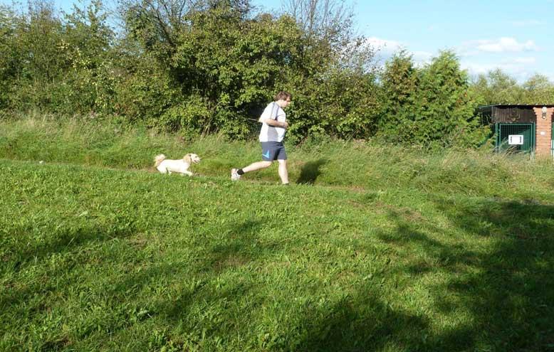 Bild Benjamin joggt mit Schifamhund